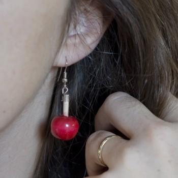 Boucles d'oreilles pommes d'amour