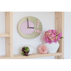 Tutorial pink and bronze clock (in french)