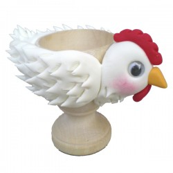 Tutorial hen on a eggcup (in french)