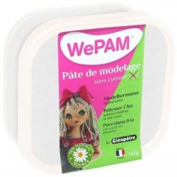 WePAM BLANCHE NACRÉE pâte de modelage 145 ml