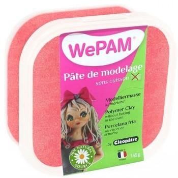 WePAM - Modelliermasse in luftdichter Box, 145 ml, Perlmutt-Rot