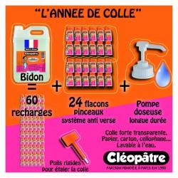 Schoolpack : 24 flacons pinceaux 80ml + bidon 5kg colle adhésive