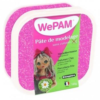 WePAM ROSA LENTEJUELAS plastilina 145 ml