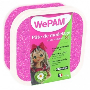 WePAM ROSE PAILLETÉE pâte de modelage 145 ml