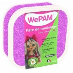 WePAM - Modelliermasse in luftdichter Box, 145 ml, Glitzer-Violett