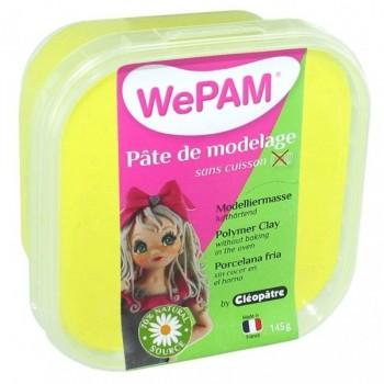 WePAM - Modelliermasse in luftdichter Box, 145 ml, Neon-Gelb