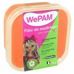 WePAM - Modelliermasse in luftdichter Box, 145 ml, Neon-Orange