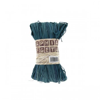 Raphia Végétal Bleu 50gr