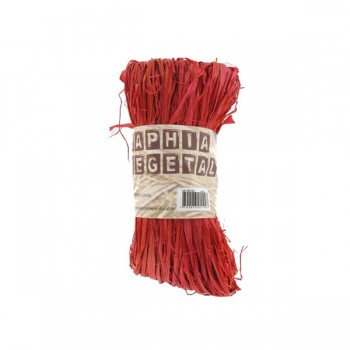 Raphia Végétal Rouge 50gr