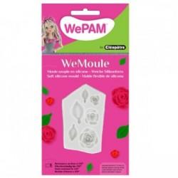 WeMoule – Silikonform, grosse Rosen und Blätter