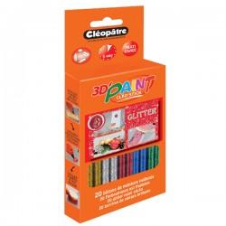 Boîte de 20 bâtons de peinture pailletée Cléo'STICK 3D Paint