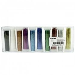 10 tubes de paillettes couleurs