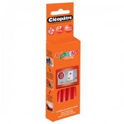 Boîte de 12 bâtons de peinture colorée rouge Cléo'STICK 3D Paint