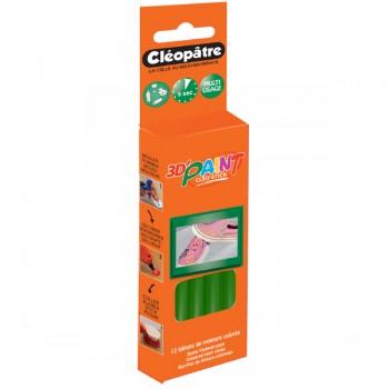 Boîte de 12 bâtons de peinture colorée vert Cléo'STICK 3D Paint
