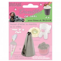 Douille en inox imitation chantilly