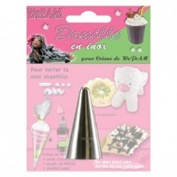 Douille en inox imitation mini chantilly