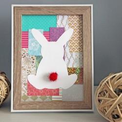 Cadre lapin de Pâques