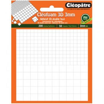 Cléofoam 3 mm (200 minis + 50 maxis)
