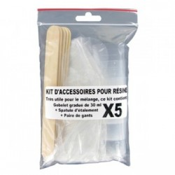 Sachet d'accessoires pour mélanger la résine