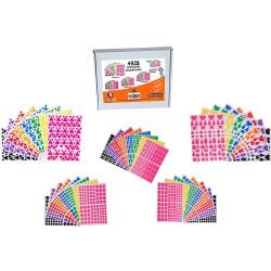 Coffret 4928 gommettes géométriques multicolore
