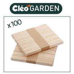 Bâtonnets en bois pour CléoGarden