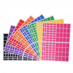 Gommettes rectangles - 8 Planches