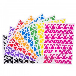 Gommettes triangles - 8 planches