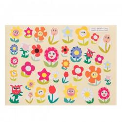 Gommettes fleurs souriantes
