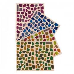Gommettes mosaïques camaïeux vifs