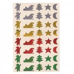 Gommettes décoration Noël métalisées