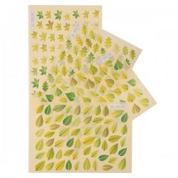 Gommettes feuilles vertes