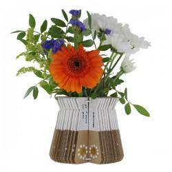 Vase à décorer en carton kraft naturel