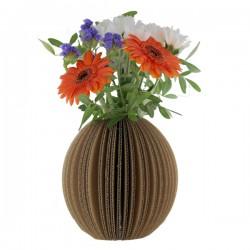 Vase à décorer en carton kraft naturel - Rond