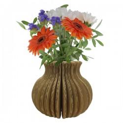 Vase à décorer en carton kraft naturel - Courbe