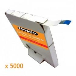 Cléotops maxi rouleau de 5000 pastilles transparente permanente