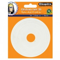 Cléofoam tape 3d  double sided adhesive in high density foam (2mm x 5m)