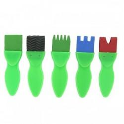 Lot de 5 brosses fantaisie 4cm
